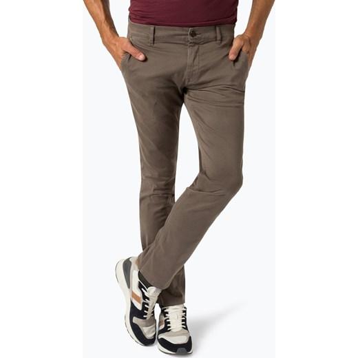 061df64ec216a BOSS Casual - Spodnie męskie – Schino-Regular D, brązowy Boss Casual 34-