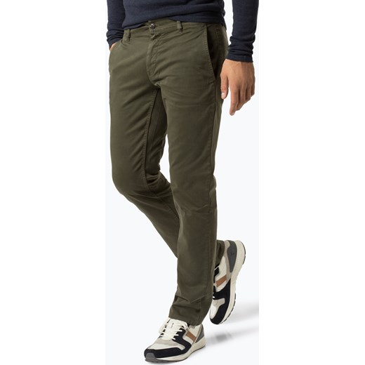 7104f8448fd9e BOSS Casual - Spodnie męskie – Schino-Regular D, zielony Boss Casual 34-