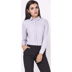 0f22a60ba1d0a9 czarna Klasyczna Koszula - Body z Długim Rękawem molly-pl rozowy w ...