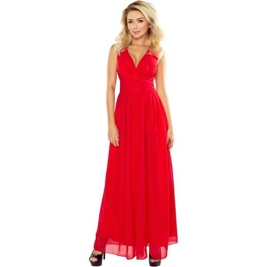 6f7e425d3530 Czerwona Sukienka Wieczorowa Maxi z Dekoltem V Molly.pl czerwony w ...