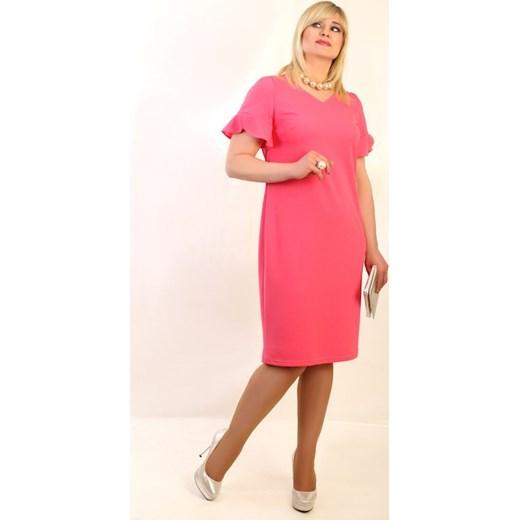 f3a9570c181d26 Sukienka ELENA róż Oscar Fashion w Domodi