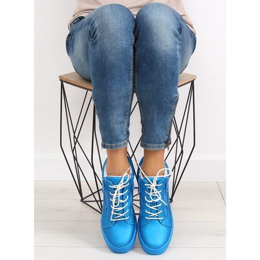 8f543ccc46060 Buty sportowe damskie niebieskie 1413 BLUE kupbuty.com w Domodi