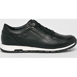 710eba8be22f2 Wojas buty sportowe męskie ze skóry czarne