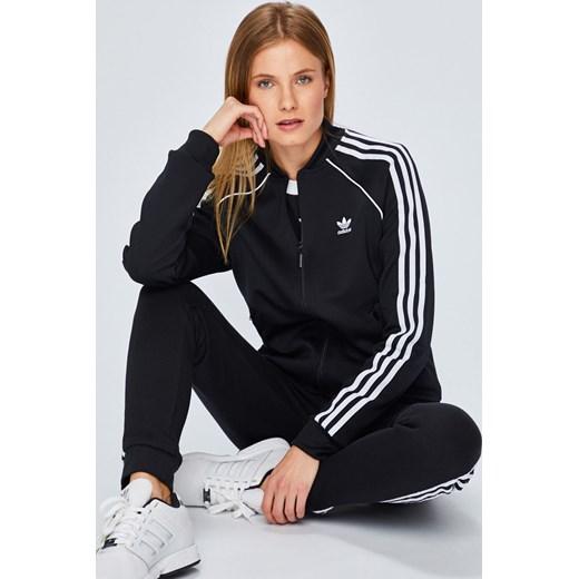ujęcia stóp kup tanio różne style Adidas Originals bluza damska czarna krótka bez wzorów