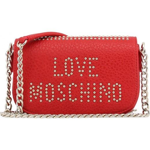 d67ba6a4de610 LOVE MOSCHINO Mała torebka z ćwiekami listonoszka czerwona JC4066PP16LS Love  Moschino okazyjna cena rinkopl ...
