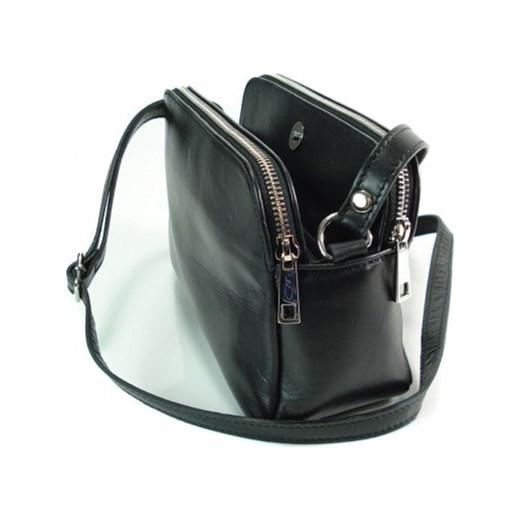 831b14702f929 ... VERA PELLE Klasyczna mała torebka damska listonoszka na ramię czarna  skóra naturalna VP2K2 Włoskie torebki WYPRZEDAŻ ...