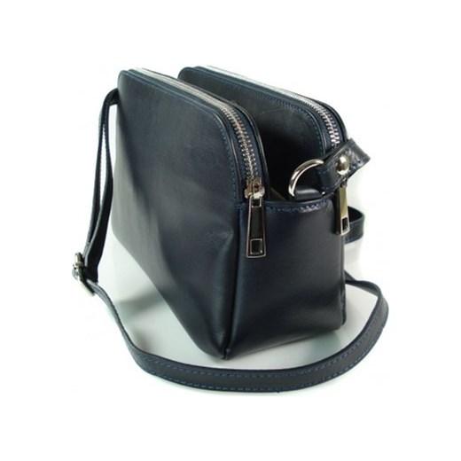 1b412f8014320 ... VERA PELLE Klasyczna mała torebka damska listonoszka na ramię granatowa  skóra naturalna VP2KBS Włoskie torebki WYPRZEDAŻ ...