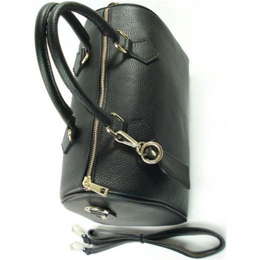 c25c9f2f7d970 ... VERA PELLE Elegancka włoska torebka damska kuferek w kolorze czarnym  skóra naturalna KVP17N włoskie torebki WYPRZEDAŻ
