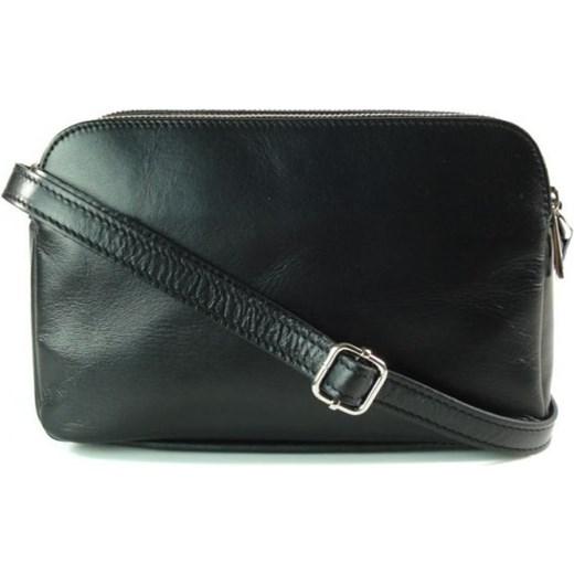 1db76878a5f26 VERA PELLE Klasyczna mała torebka damska listonoszka na ramię czarna skóra  naturalna VP2K2 Włoskie torebki WYPRZEDAŻ ...