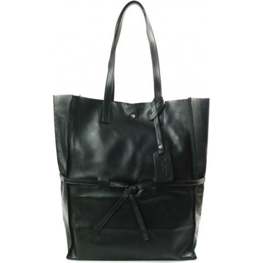 45d55cec7ba18 VERA PELLE Włoska torebka skórzana duży pojemny worek XXL Shopper bag  czarny VPX57N Włoskie torebki WYPRZEDAŻ ...
