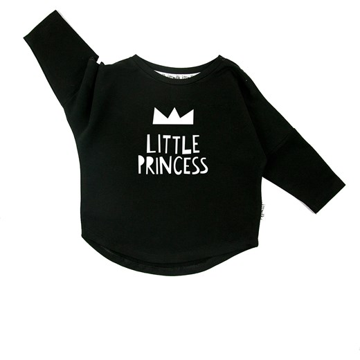 "BLUZA ""LITTLE PRINCESS""  czarny i love milk"