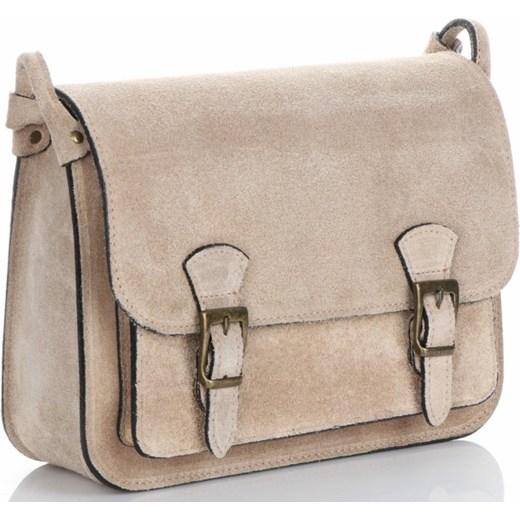77919b1d96d98 Torebki Listonoszki Skórzane Genuine Leather Ciemno Beżowa (kolory) Genuine  Leather PaniTorbalska ...