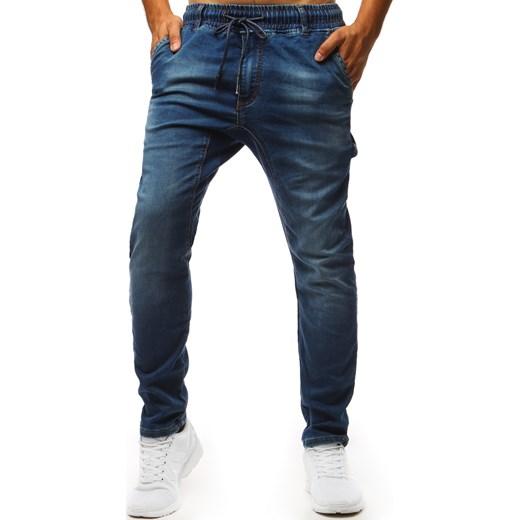 c755444400ded3 Spodnie joggery jeansowe męskie niebieskie (ux1345) Dstreet w Domodi
