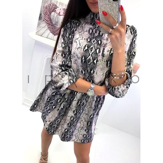 543fd5c243 Italy style modna Włoska sukienka + efektowne wiązanie plecy skóra węż  Ifriko.pl uniwersalny
