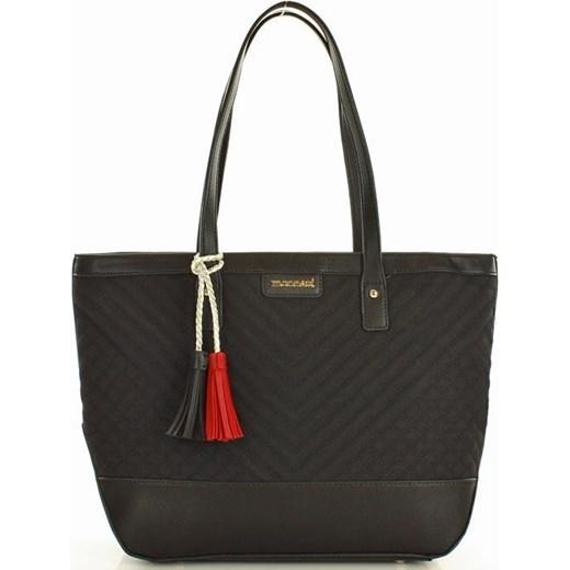 8db334fb MONNARI Stylowa torba shopper bag czarny szary okazyjna cena merg.pl
