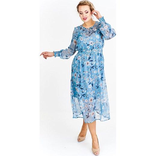 3a50571e Zwiewna tiulowa sukienka w kwiaty fokus.pl