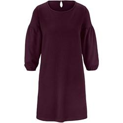 eab5c3658c Sukienka Tchibo fioletowa z okrągłym dekoltem dzienna trapezowa bez wzorów