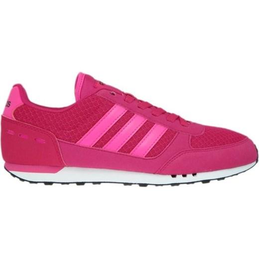 sklep dyskontowy wylot dobra sprzedaż Buty sportowe damskie różowe Adidas Neo płaskie
