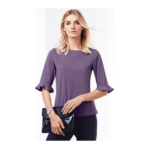 Bluzka damska Tchibo z elastanu Odzież Damska QH fioletowy