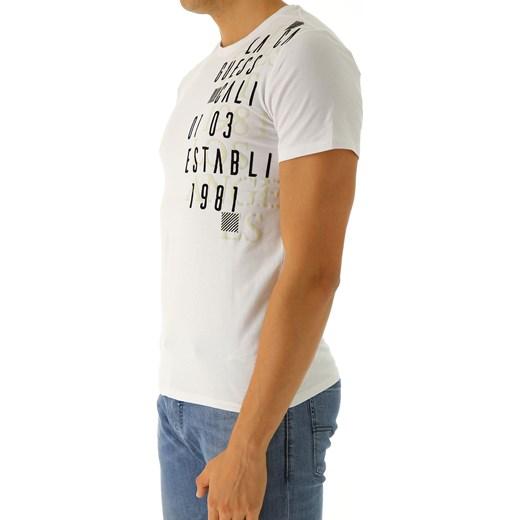 65797f19afafe ... T-shirt męski Guess biały z krótkim rękawem z napisem młodzieżowy ...