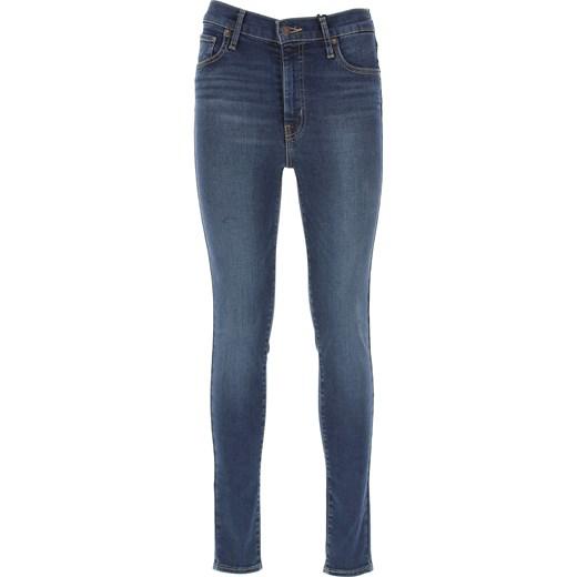 5e7515137 Levis jeansy damskie gładkie granatowe w miejskim stylu w Domodi