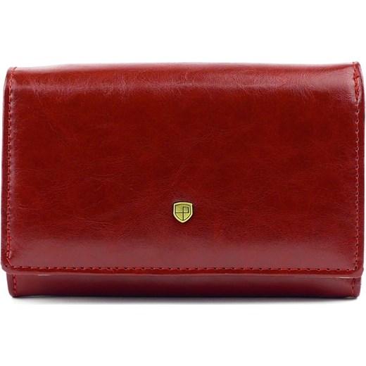 32ef9752b894a Czerwony damski portfel skórzany Peterson 450 Galmark w Domodi