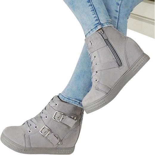c36a76ba ... bw Sneakersy Na Koturnie Bw szary 41 Lubiebuty ...