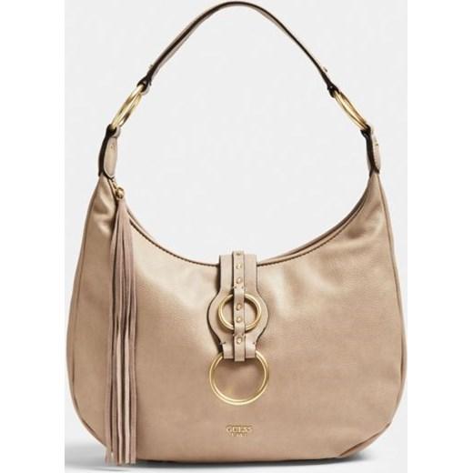 5e1251f70a017 Shopper bag Guess z bawełny casual z frędzlami na ramię matowa w Domodi