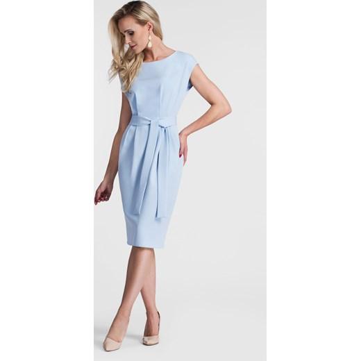 dobry Niebieska sukienka Livia Clue z okrągłym dekoltem bez