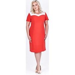 d90177d5d7 Wielokolorowe sukienki wizytowe dla puszystych