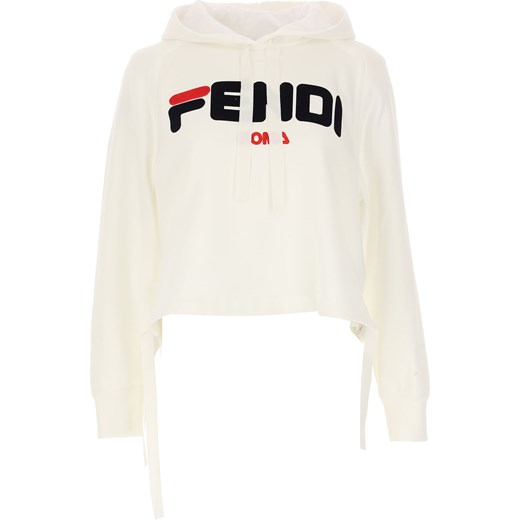 1974facc39a31 Bluza damska Fendi biała na zimę bawełniana w Domodi