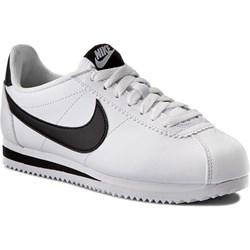 wholesale dealer 92149 b87e0 Buty sportowe damskie Nike cortez ze skóry ekologicznej płaskie sznurowane  bez wzorów