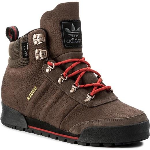 Niewiarygodnie Adidas buty zimowe męskie skórzane brązowe sportowe w Domodi GV12