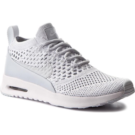 15fd488367303 Buty sportowe damskie białe Nike air max thea na płaskiej podeszwie gładkie  sznurowane ze skóry