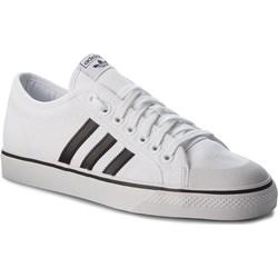 203361c0ab9e5 Trampki damskie Adidas sportowe z gumy na płaskiej podeszwie gładkie  wiązane ...