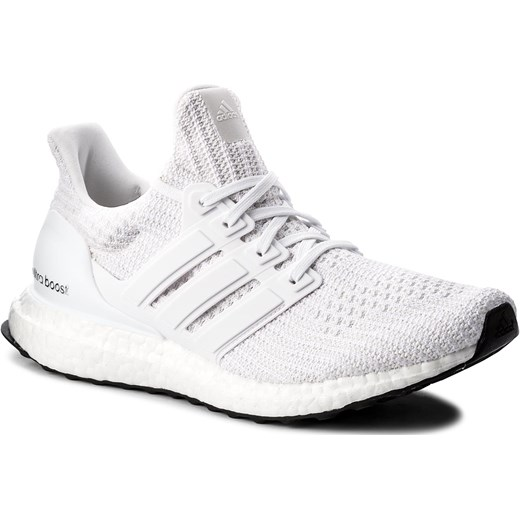ae87c3a5638a Buty sportowe damskie Adidas białe sznurowane na płaskiej podeszwie ...