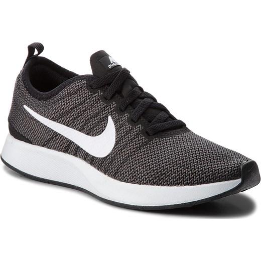 Buty sportowe damskie Nike na płaskiej podeszwie sznurowane z tworzywa sztucznego czarne bez wzorów