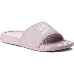 new arrival 76eb3 7c125 Klapki damskie różowe Nike płaskie bez zapięcia na lato bez wzorów1 ...