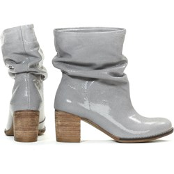 0fa68b6542c8a Zapato botki eleganckie na obcasie skórzane bez wzorów bez zapięcia