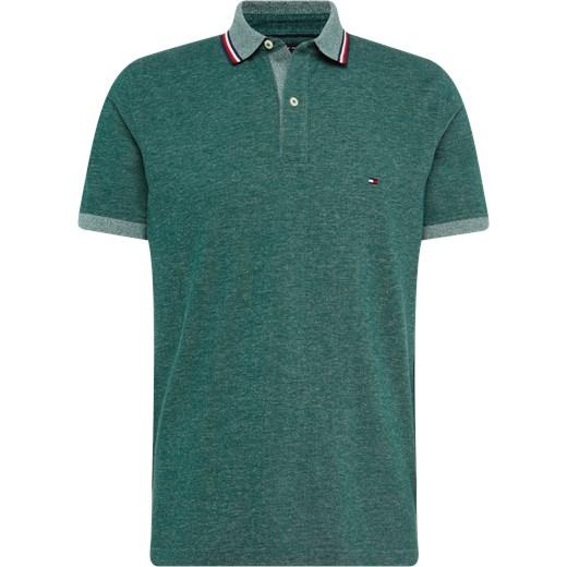 85105cdac892f Koszulka polo męskie zielona Tommy Hilfiger bawełniana w Domodi