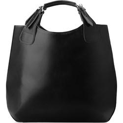 20280f3fedf29 Shopper bag ze skóry ekologicznej bez dodatków
