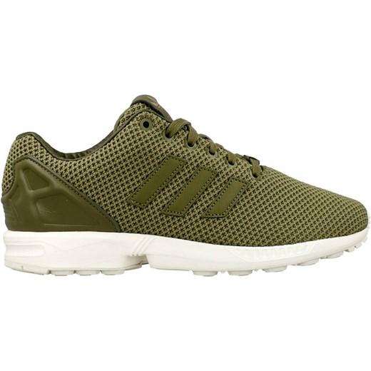 Buty sportowe męskie Adidas zx flux zielone sznurowane