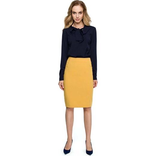 Spódnica Moe z wiskozy Odzież Damska VL żółty Spódnice OUOM