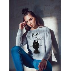 8b22b2b3b7f88f Bluza damska Calvin Klein szara w nadruki sportowa krótka w Domodi