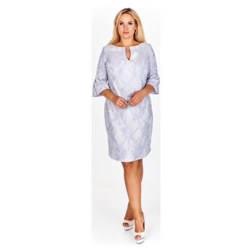 06f0de203c Sukienka Wesley midi rozkloszowana z długimi rękawami elegancka  Sukienka  Wesley w abstrakcyjnym wzorze midi z długimi rękawami elegancka ...