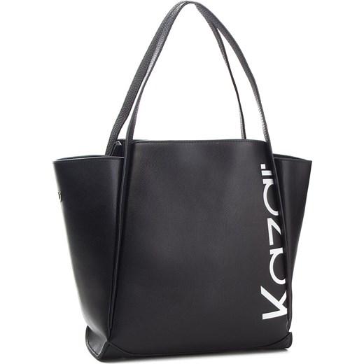 f327482a5b22d Shopper bag czarna Kazar elegancka bez dodatków skórzana w Domodi