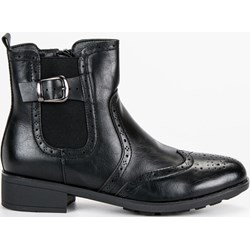 20968ea27dd69 Filippo botki casual jesienne czarne bez zapięcia na obcasie bez wzorów