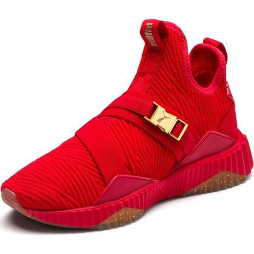 Czerwone buty sportowe damskie Puma select