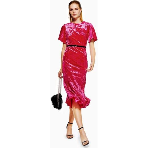14dbbbf8d Sukienka Topshop midi z okrągłym dekoltem na wesele w Domodi