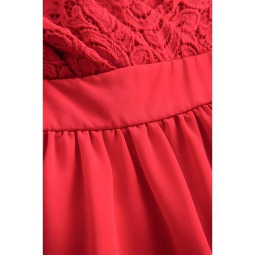f8c0746ec4 ... rozkloszowana midi koronkowa  Sukienka ORSAY na ramiączkach kopertowa  na wesele z tkaniny midi ...
